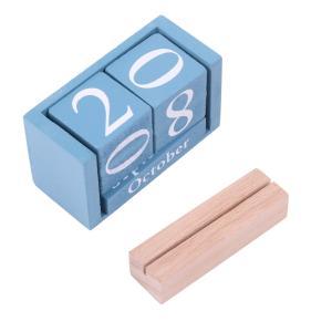 ・インテリアにもなる 木製の万年カレンダーに、カードスタンドをセット          ・セット内容...