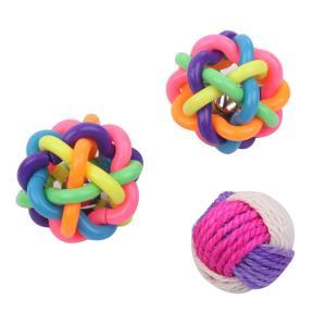 ・ゴム製 の 噛むおもちゃ ボールに、麻素材の ボール をお付けしました。          ・セッ...