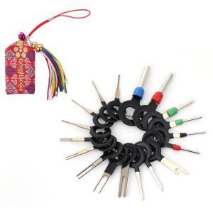 ・ カプラーやコネクターから配線端子を外すための 端子除去ツール 18点セットです。        ...