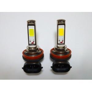 LEDフォグランプ/POWER COB LED/クローム加工/1200LM〜1500LM(ホワイト・イエロー)H8/H9/H11/H16(JP) 兼用|mine-shop