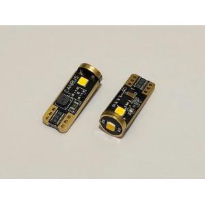 [レトロ電球色 4000K] T10/Epistar 3030 monster LED(3pcs)/300LM/CANBUS キャンセラー内蔵/2個セット [レトロ電球色 4000K]|mine-shop