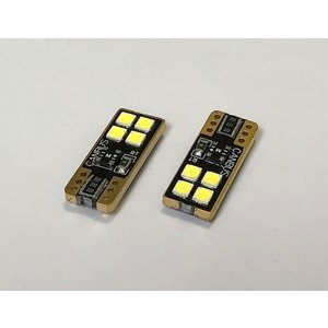 T10/Epistar 3030 monster LED(4pcs)片面発光タイプ/340LM/CANBUS キャンセラー内蔵/2個セット|mine-shop