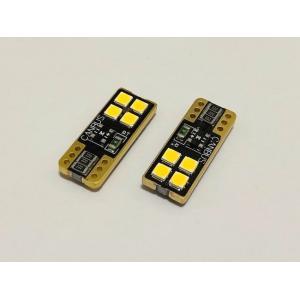 [レトロ電球色 4000K] T10/Epistar 3030 monster LED(4pcs)片面発光タイプ/340LM/CANBUS キャンセラー内蔵/2個セット [レトロ電球色 4000K]|mine-shop