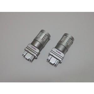 3157・3156/無極性/Epistar 2835 LED(380LM)/S25・T25 ウェッジ/2個セット(橙)|mine-shop
