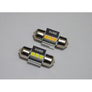 T10 x 29mm(特殊)/Epistar 3030 monster LED(250LM)/単品 1個(昼白色 6000K/レトロ電球色 4000K)※「T10 x 31適合サイズなのに、少し長くて入らない」解決|mine-shop