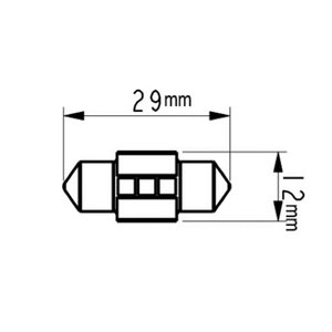 T10 x 29mm(特殊)/Epistar 3030 monster LED(250LM)/単品 1個(昼白色 6000K/レトロ電球色 4000K)※「T10 x 31適合サイズなのに、少し長くて入らない」解決|mine-shop|04
