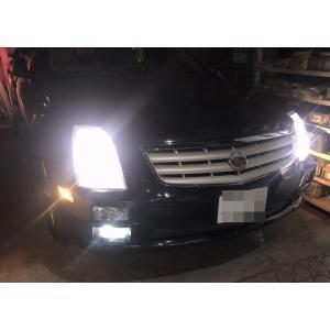 Cadillac STS/LEDフォグランプ/POWER COB LED/クローム加工(ホワイト・イエロー)/キャデラック・STS(2005〜2011) mine-shop
