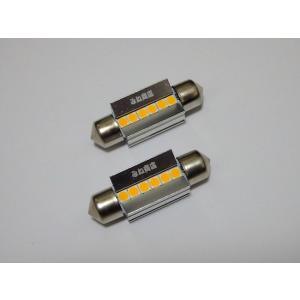 [レトロ電球色 4000K] T10 x 36(37)mm/Epistar 3030 monster LED(350LM)ワーニングキャンセラー内蔵/単品 1個|mine-shop