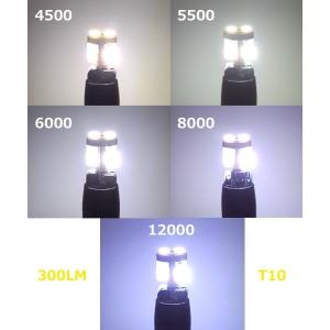 T10/Epistar 3030 Power LED/300LM/CANBUS キャンセラー内蔵/2個セット(ホワイト・ゴールドイエロー)|mine-shop|03