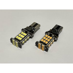 T16/SMD2835/800LM/球切れ警告灯キャンセラー内蔵/12V車用/2個セット|mine-shop