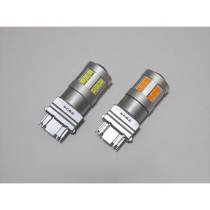 3157・3156/無極性/Epistar 2835 LED(800LM)/S25・T25 ウェッジ/2個セット(白・橙)|mine-shop