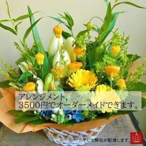 フラワーギフト アレンジメント  オーダーメイド 東京23区限定 送料無料 お花屋さんがお届け|mingle-h