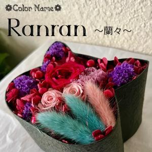 ねこばこ Ranran 蘭々 プリザーブドフラワー オリジナル 猫型 フラワーボックス 個性派 ギフト|mingle-h