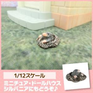ミニチュア ドールハウス モグラ ミニチュア小物|mini-12bunno1