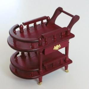ミニチュア ドールハウス サービングカート ミニチュア家具|mini-12bunno1