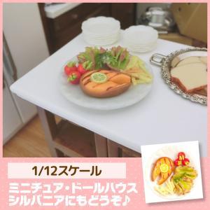 ミニチュア ドールハウス サーモンステーキ ミニチュア小物|mini-12bunno1
