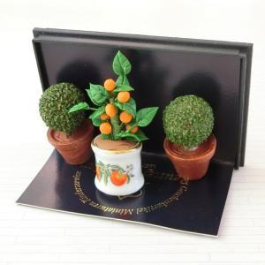 ミニチュア ドールハウス オレンジツリー&トピアリーセット|mini-12bunno1
