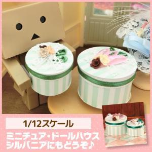 ミニチュア ドールハウス 帽子ケース2個セット ミニチュア小物 mini-12bunno1