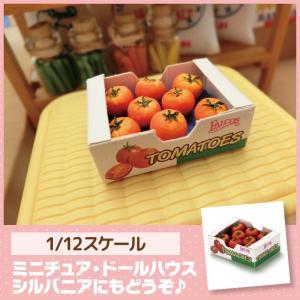 ミニチュア ドールハウス ケース(トマト) ミニチュア小物|mini-12bunno1