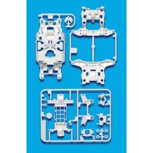 ミニ四駆 タミヤ 95246 MS強化シャーシセット ホワイト|mini4-guruguru