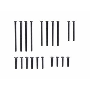 ミニ四駆 タミヤ 95415 ステンレス皿ビスセット ブラック 10・12・20・25・30mm mini4-guruguru