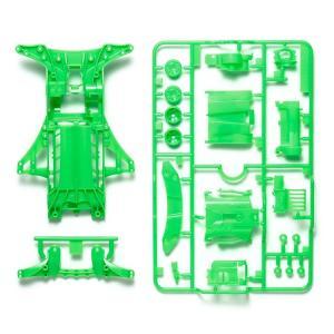 ミニ四駆 タミヤ 95476 FM-A蛍光カラーシャーシセット (グリーン)|mini4-guruguru