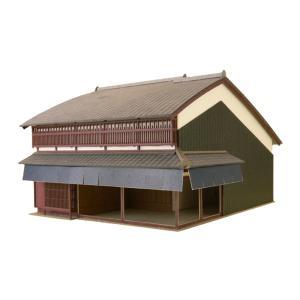 みにちゅあーとキット 1/100 町家シリーズ 角店 S=1/100 miniatuart