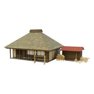 みにちゅあーとキット 1/87 情景シリーズ 茅葺民家-2 MK05-20|miniatuart