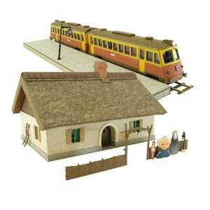 みにちゅあーとキット 1/150 スタジオジブリ作品シリーズ 千と千尋の神隠し 銭婆の家と海原電鉄 MK07-07 miniatuart