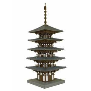 みにちゅあーとキット 1/150 なつかしのジオラマシリーズ 五重塔 MP03-11 miniatuart