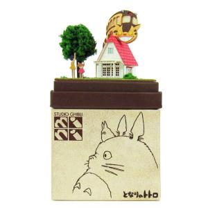 みにちゅあーとキット nonscale スタジオジブリmini となりのトトロ 草壁家とネコバス MP07-02 miniatuart