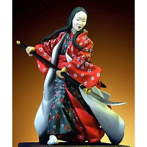 女武者 1600-1867年   Samurai Female Warrior(1600-1867)   54mm|miniature-park