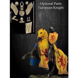 ヨーロッパの騎士 14世紀(騎馬)(オプションパーツ付き)  European Knight XIV Century  54mm|miniature-park