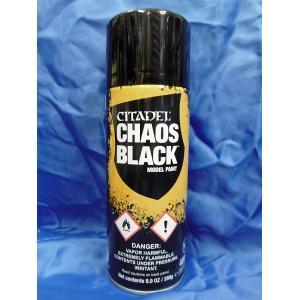 シタデルカラー ケイオスブラック・スプレー  CHAOS BLACK PRIMER SPRAY  400ml[62-02]|miniature-park