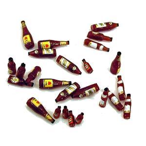 ビールビンセット(茶色 25個入。ラベルのデカール付き) Assorted Beer bottles (Qty-25) Brown 1/35|miniature-park