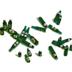 ビールビンセット(緑色25個入/ラベルのデカール付き)Assorted Beer bottles (Qty-25) Green 1/35[AA-A099G]|miniature-park