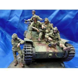 日本軍 休憩中の戦車兵&歩兵セット(97式戦車用/6体入)  Japanese tank crew and infantry at rest on a Chi Ha 97 tank (6 figures) 1/35 [ACM-35058]|miniature-park