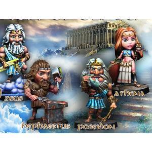 オリンポスの神々(4体入)  EASY-TRUKISS- Gods of Olimpus   35mm[AM-EASY01]|miniature-park
