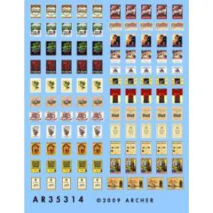 ワイン&シャンパン ラベルセット(22種類、144枚のビンテージもののラベル)  Wine and Champagne bottle labels  1/35|miniature-park