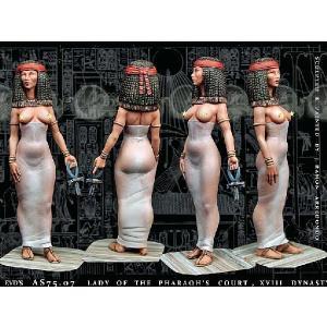 古代エジプト ファラオの宮廷の貴婦人 第18王朝  Lady of the Pharaoh's court, XVIII dynasty  75mm[AS7507]|miniature-park