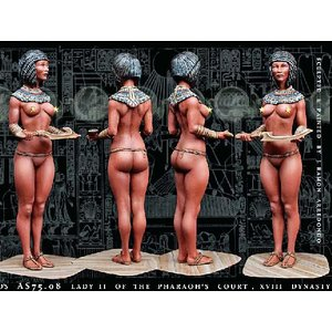 古代エジプト ファラオの宮廷の貴婦人II 第18王朝  Lady II of the Pharaoh's court, XVIII dynasty  75mm[AS7508]|miniature-park