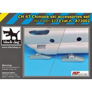 現用アメリカ陸軍 CH-47チヌーク輸送ヘリコプター スキー・アクセサリーセット(イタレリ用)  CH-47 Chinook ski accessories set for Italeri 1/72[BD-A72002]|miniature-park