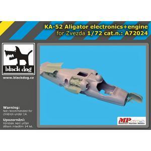 現用ロシア空軍 Ka-52アリガートル攻撃ヘリ 電子機器+エンジン(ズベズダ用) Ka -52 Aligator electronics+engine for Zvezda 1/72[BD-A72024]|miniature-park