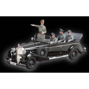 ヒトラー総統のパレードカー(フィギュア4体付) 塗装済完成品【ヨーロッパ製】   FUHRER'S PARADE CAR  MADE IN EU  54mm(1/32) [BH-0401EU]|miniature-park