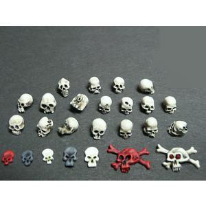人間/オルコイド/ゴブリノイドの骸骨(15種/60個入)  Human and Orkoid / Goblinoid Skulls  28/35mm[DM-DM012] miniature-park