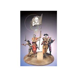 「ジョリー・ロジャーの亡霊」 海賊のゾンビビネット(フィギュア4体、ベース付)  Ghosts of the Jolly Roger Vignette(4 Figures&Base) 54mm|miniature-park