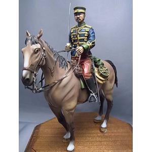 帝国陸軍 近衛騎兵 中尉 日露戦争(騎馬)  IJA Imperial Guard military engineer Private Russo-Japanese War  1/16[GM16014]【セール対象外】|miniature-park