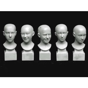フィギュアヘッドセット 女性 #1(5個入)  FIGURE HEAD SET FEMALE#1 (5 HEADS) 1/35【セール対象外】|miniature-park