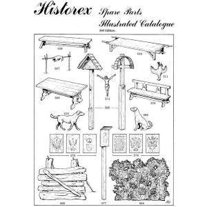 ヒストレックス スペアパーツカタログ  Historex Spare Parts Catalogue A4版24ページ|miniature-park