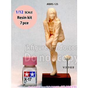 女子高生フィギュア(マスク付き)  Japanese Kawaii highschool girls with flu mask  1/12【セール対象外】|miniature-park